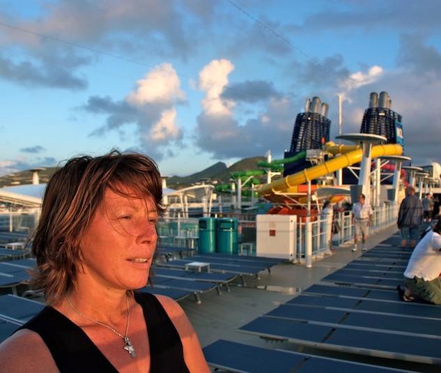 Norwegian Epic, Hannie at sunrise