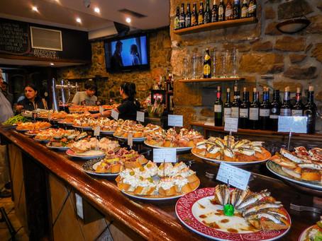 Overheerlijke Pintxos eten in Baskenland