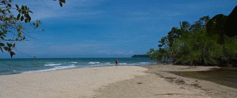 Costa Rica, Cahuita National Park; Hannie on the beach