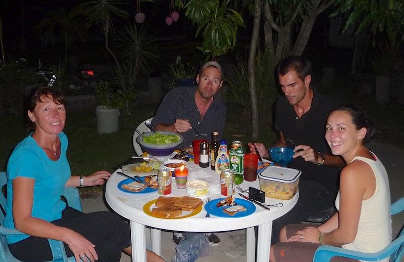 El Salvador, La Libertad; BBQ with Jules,Melanie and Michael