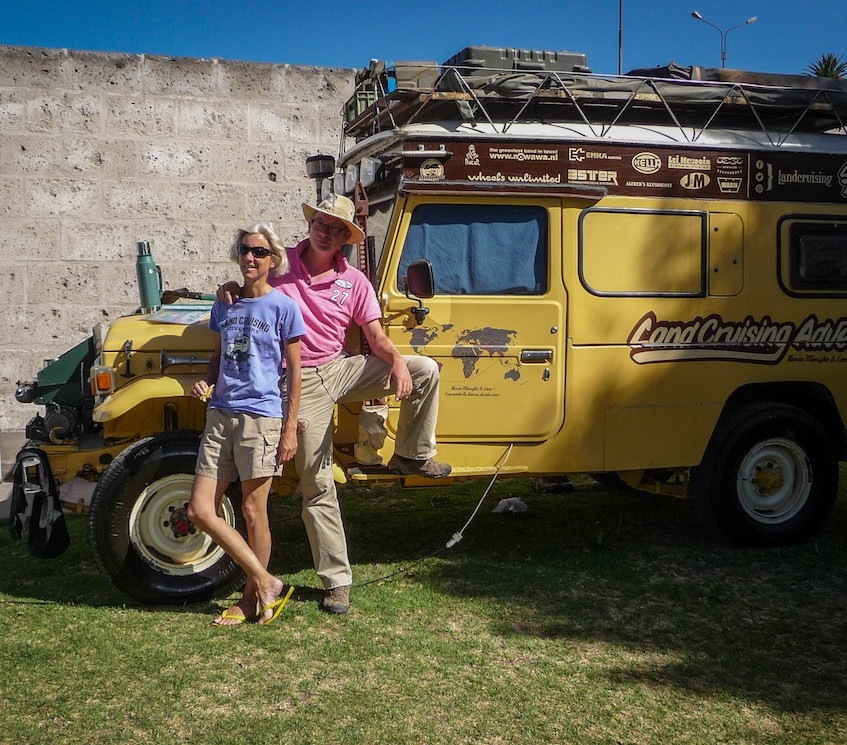 Peru, Arequipa; Overlanders from The Netherlands