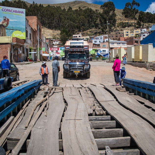 Bolivia, ponton on Lago Titicaca (2)