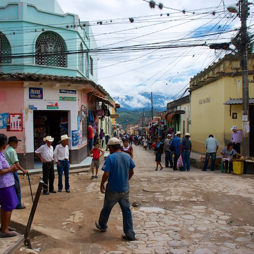 Honduras, Gracias ; Street view