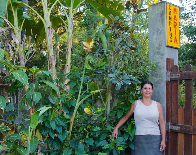 Costa Rica, Cahuita; Camping Maria, Maria the owner