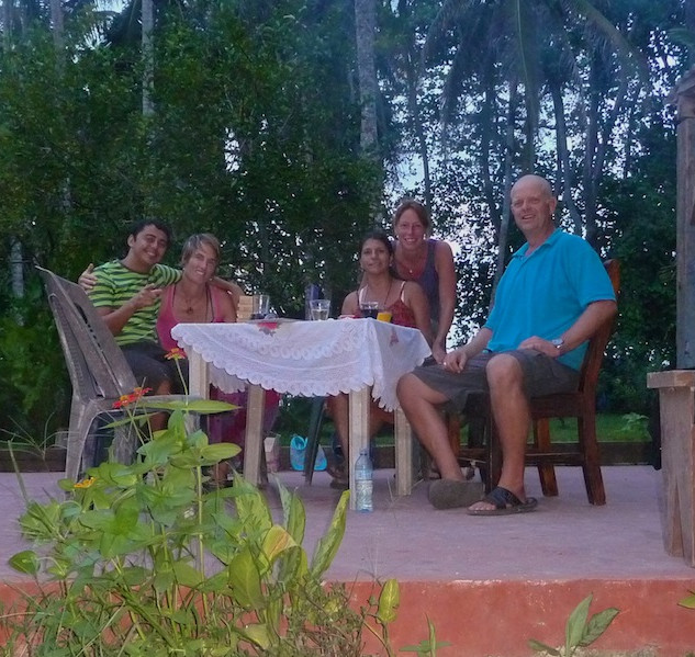 Costa Rica, Cahuita; Camping Maria, together with Jikke, Challo and Maria