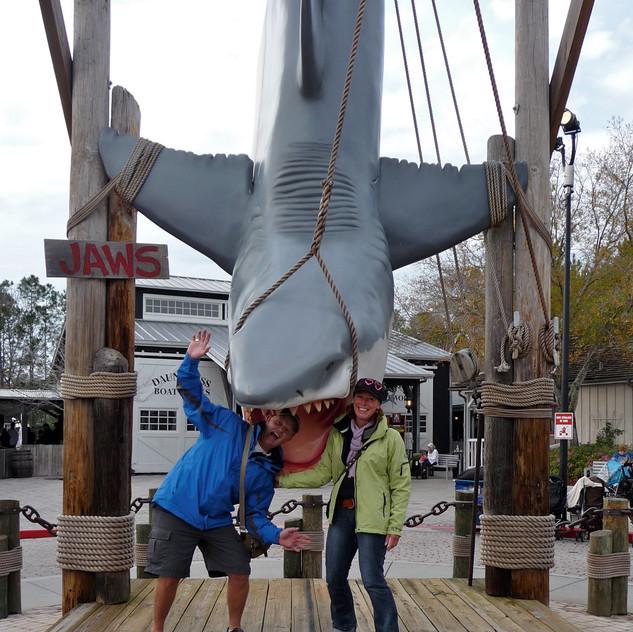US, JP en Hannie bij Jaws