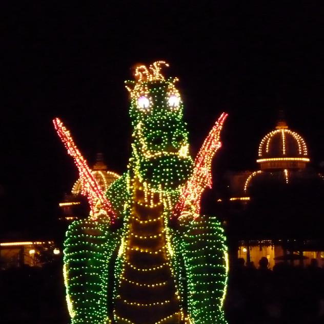 WDW, Magic Kingdom Electric Parade, de draak