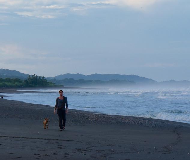 Costa Rica, Ostinal ; Hannie on the Beach