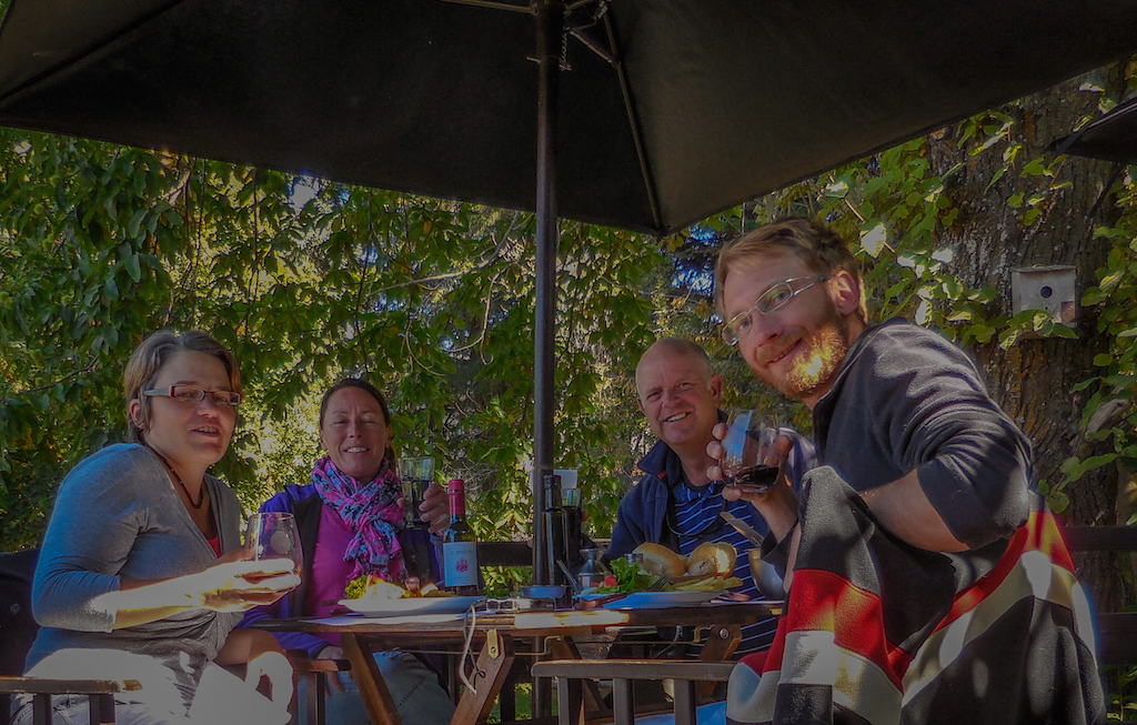 Argentina, San Carlos de Bariloche: together with Rebecca and Bruce
