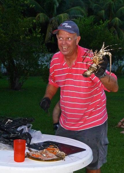 El Salvador, La Libertad; JP like to kill the lobster