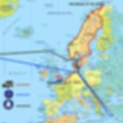 Afbeelding route van wereldreizigers JP en Hannie door Europa in 2010