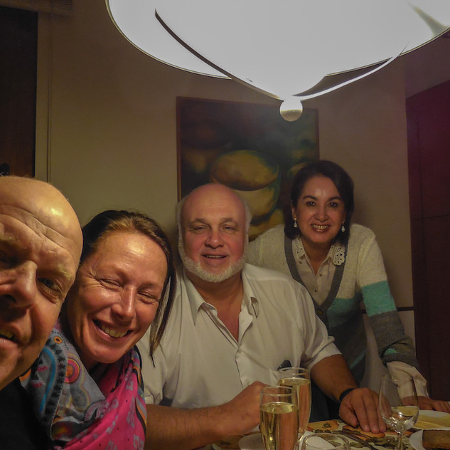 Chile,Santiago, with Eduardo and Kena