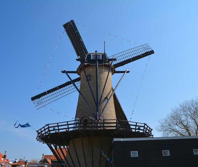 The Netherlands, Tholen; the mill 'De Verwachting' (1)