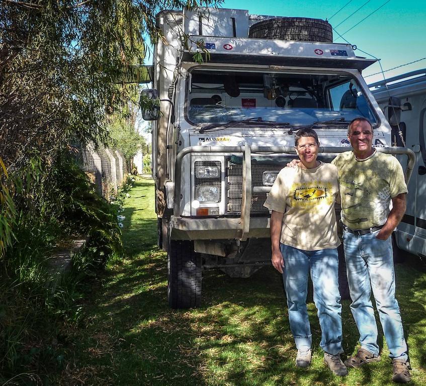 Peru, Arequipa; Overlanders from Switserland