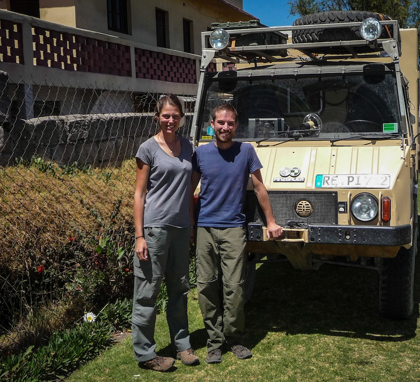 Peru, Arequipa; Overlanders from Germany