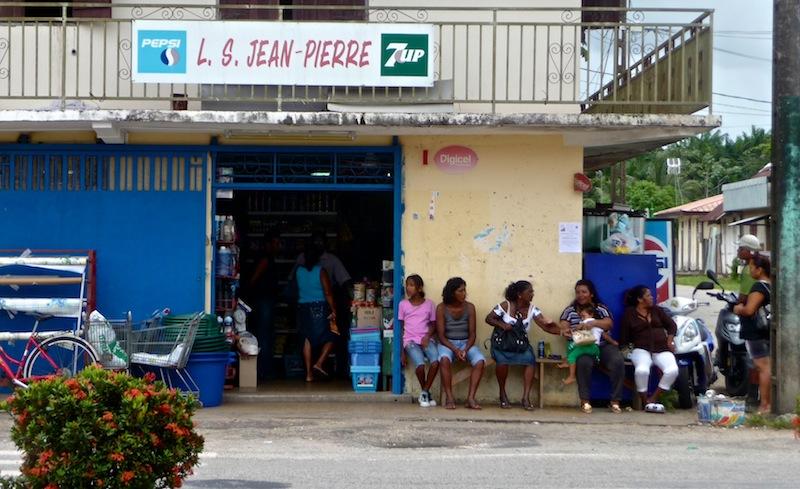 Frans Guyana, nice shop Jean Pierre