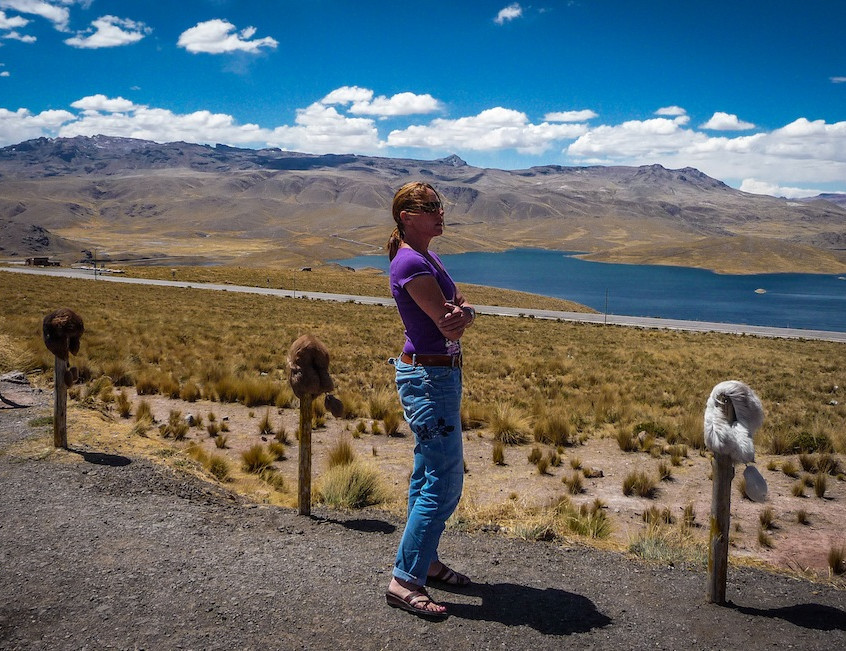 Peru, on the road from Arequipa to Sillustani (3)