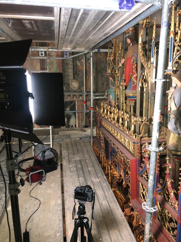 Dokumentation und Konservierungsarbeiten am Herlinaltar in der Stadtkirche in Bopfingen