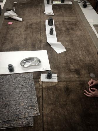 Bearbeitung eines gut 8m² großen Leinwandgemäldes