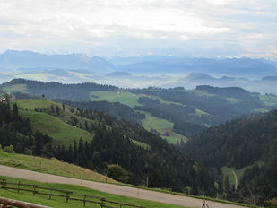 The view from the Luderenalp Hotel.