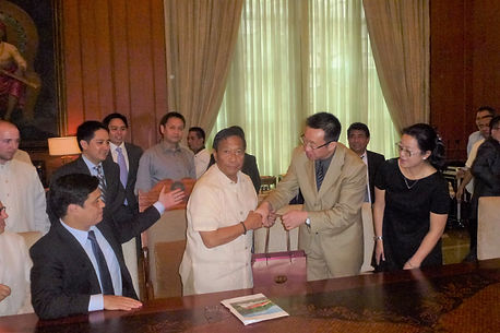 Previous Phillipines Vice President Binay wth Laton's international invesment group