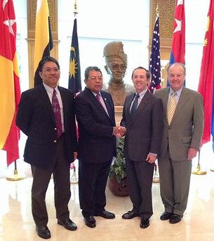 Datuk Awang Adek Hussin in DC meetig with William Lawton