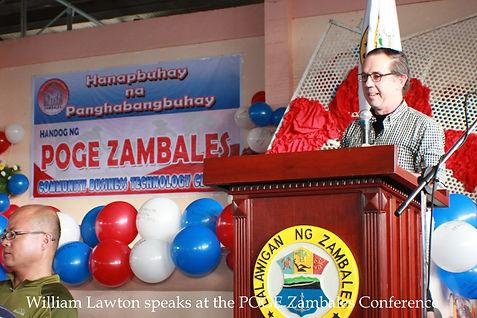 Poge Zambales Conerencewith speaker Wlliam Lawton
