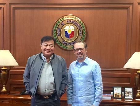 Philippines Speaker of the House, Mr. Alvaez, with William Lawton