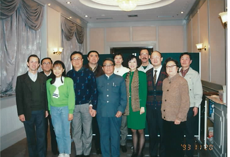 William Lawton and Chen Yuen at a dinner in China