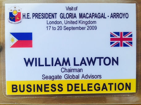 Lawton acting as part President Gloria Business Delegation.jp