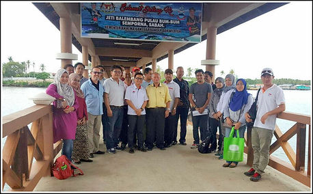 Launching ceremony for Seagate Malaysia's investment in a new Jetty for Bum Bum island