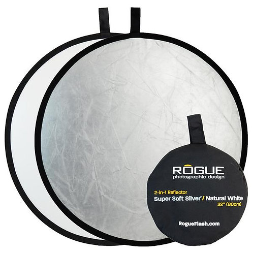 "Rogue 2-in-1 Super Soft silver/Natural White 32"" reflector"