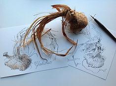 Lesley Alexander - pen and ink workshop.