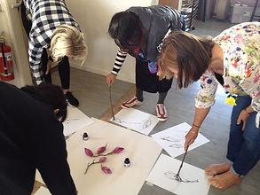 Pen and ink botanical art class at Kumeu Arts