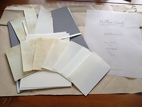 Vellum from William Cowley, Parchment Makers in UK