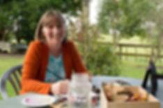 Lesley Alexander in her garden at home.j
