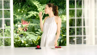 Campagne Mövenpick: parfum framboise