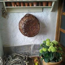 antique pots wudu hydrangea
