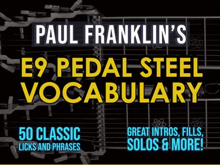 E9 Pedal Steel Vocabulary