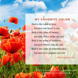 Poem: My Favorite Color