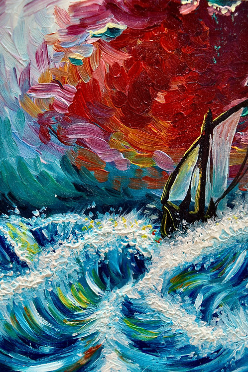 """""""SAFE IN THE WAVES"""" 4x6 Art Print"""