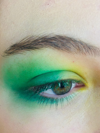 inspired by the beauty of nature, using forest green. sunny yellow and tiny blossom pink