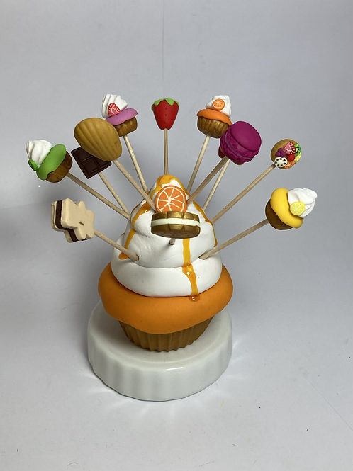 Présentoir  Cupcake  orange