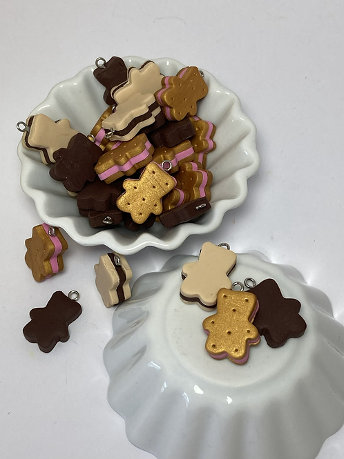 Breloque  biscuit  ourson