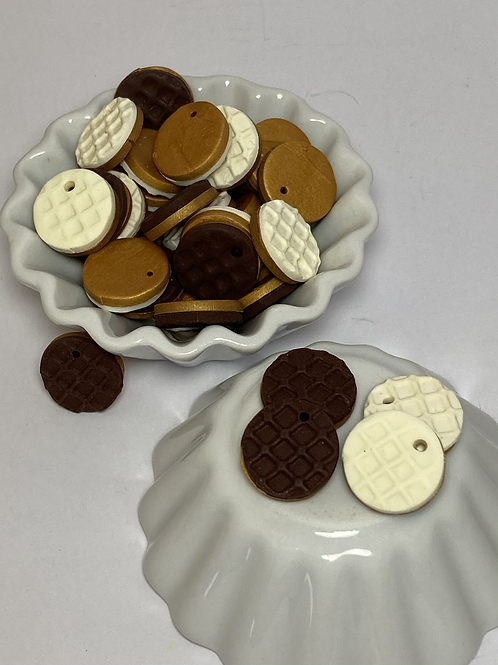 Breloque  pépite chocolat ou vanille