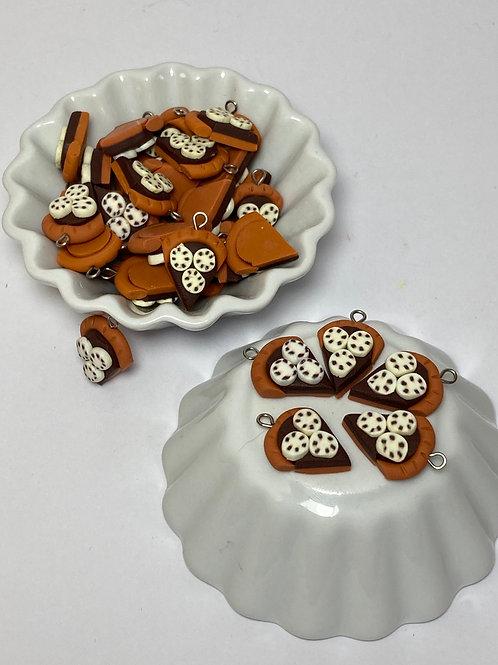 Breloque  tarte Choco-banane