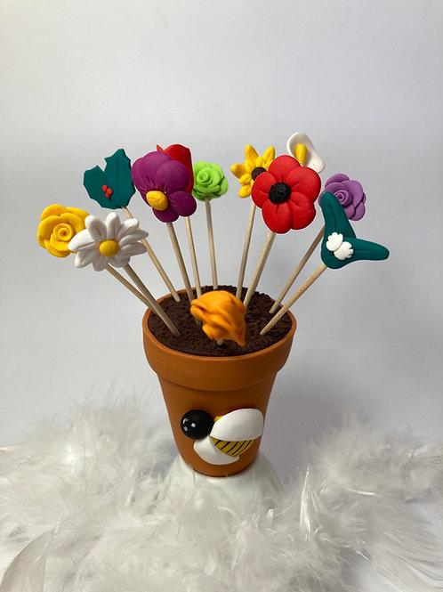 Présentoir  Pot de fleurs