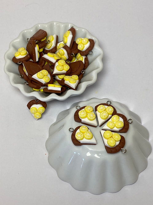 Breloque  tarte aux citrons