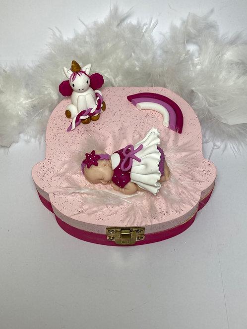 Boîte à dent «ma licorne rose»