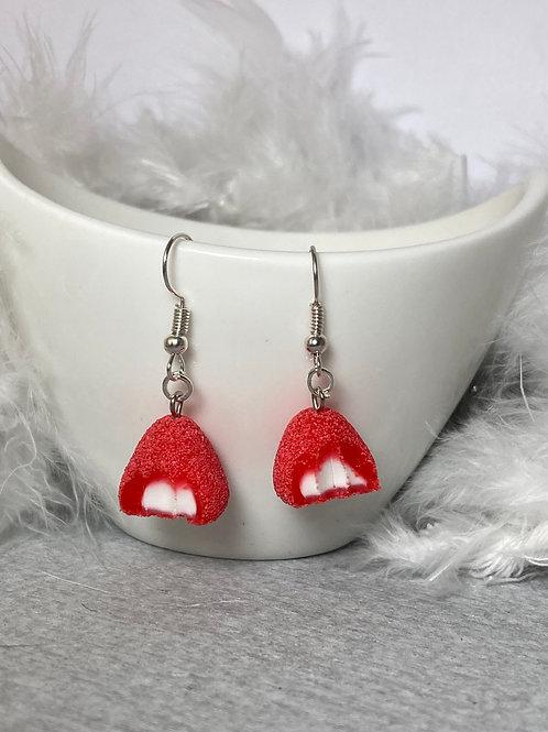 Boucles  d'oreilles  bonbon fraise